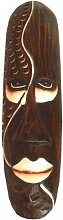 Maske bemalt 50 cm, Holz-Maske aus Bali, Wandmaske