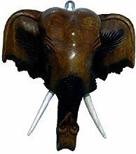 Maske Elefant, Elefantenkopf als Wandbild,
