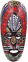 Maske Holz Ethnische Dekoration Statue afrikanischen Tribal Totem Aboriginal Afrika 20cm ID