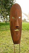 Maske Rost Skulptur Gartendeko Maske*