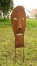Maske Rostsäulen Gartendeko Maske kleinste