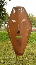 Maske Rostskulptur Gartendeko Maske XL