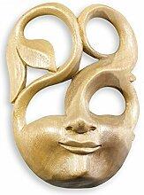 Maske Spirit 20cm Hibiskusholz Handmade Maske