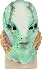 Maske YN Halloween Horror Latex Fisch Monster Mann