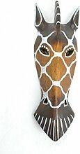 Maske Zebra aus Holz 30cm Dekoration Ethnische.