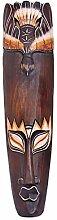 Maske zweifarbig 50 cm, Holz-Maske aus Bali,