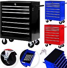 Masko® Werkstattwagen - 7 Schubladen, schwarz ✓