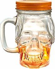 Mason Jar Totenkopf Glas trinken Tasse 12Unze