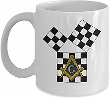 Masonic Coffee Mug - Euclid Pythagoras Square