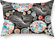 MaSoyy Flower Pillow Cases ,best For Christmas,teens,bedroom,home,study Room,teens 12 X 20 Inches / 30 By 50 Cm(each Side)