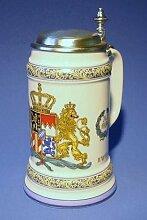 Mass-Krug Bierseidel Bier-Krug 1 L Wappen Porzellan