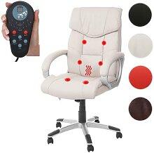 Massage-Bürostuhl HWC-A71, Drehstuhl Chefsessel,