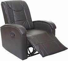Massage-Fernsehsessel HWC-T964, Relaxsessel Sessel, Heizfunktion ~ braun