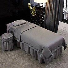 Massage Tischdecke Sets mit Gesichtsauflage Loch 4