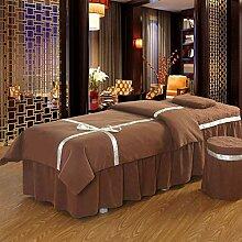 Massage Tischdecke Sets mit Gesichtsauflage Loch,