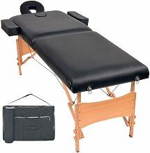 Massageliege 2 Zonen Tragbar 10 cm Polsterung
