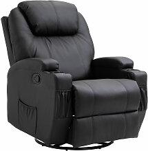 ® Massagesessel mit Wärmefunktion | Eco-Leder,