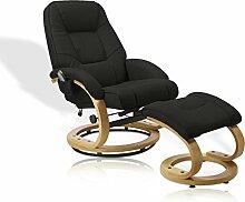 Massagesessel Sessel Massage Wärme Relaxsessel Fernsehsessel mit Hocker