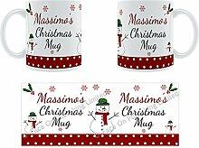 Massimo'Weihnachten Becher, Tasse, Keramik,