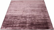 Massimo - Bamboo Teppich 140 x 200 cm, pflaume