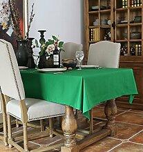 Massiv 130x 130cm grün minimalistischen skandinavischen Instagram Esstisch Tuch Baumwolle Leinen Garten Picknick quadratisch, rechteckig Umweltfreundlich,