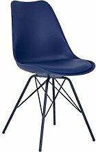 massiv.direkt 4796 Oslo 4 Fuß Stuhl blau, blau, 48 x 84 x 56 cm
