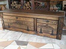 Massive handgemachte Holzkiste Truhe Box Holz