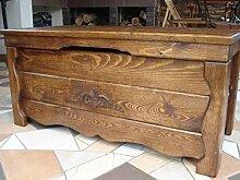 Massive handgemachte Holzkiste Truhe Box Holz Aufbewahrung Antik Dekoration BA1