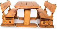 Massive rustikale Sitzgarnitur - Gartengarnitur -