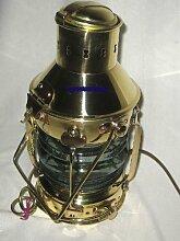 Massive Schiffslampe - Schiffsleuchte - Messing H 32 cm- elektrisch