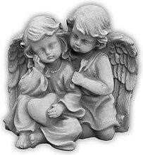 Massive Steinfigur Engelpaar Stein Engel aus