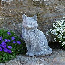 Massive Steinfigur Katze Gartendeko Raumdeko Steinguss frostfes