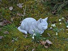 Massive Steinfigur Katze Raumdeko Gartendeko aus Steinguss frostfes