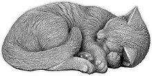 Massive Steinfigur Katze Raumdeko Gartendeko aus