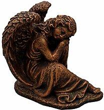 Massive Steinfigur Stein Engel Bronze Raumdeko