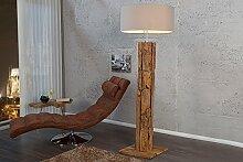 Massive Teakholz Stehlampe ROOTS 175cm natur- und