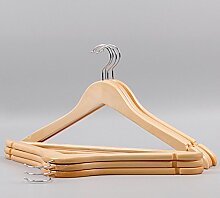 Massivem Holz Kleiderbügel Kleiderbügel,Kleiderbügel Aus Holz Anzug Anti-rutsch Kleiderbügel Holz Kleiderbügel Und Schulter Kerben 10er Pack