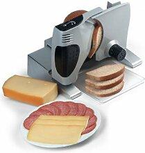 Massiver Allesschneider mit Vollmetall-Gehäuse, Schneidemaschine für Brot, Wurst, Käse (100W)