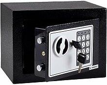 Massiver Elektronischer Safe Tresor 23 x17x17 cm schwarz mit digitalem Zahlenschloss Minisafe Elektronischer Safe