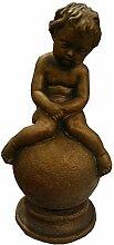 Massiver Engel bronze 26cm handgefertigt Beton 2kg