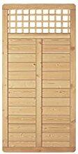 """Massiver Holz-Zaun / Dicht-Zaun mit Rankgitter aus Holz im Maß 90 x 180 cm ( Breite x Höhe ) """"Freiburg"""" aus druckimpränierten Fichtenholz ( kdi )"""