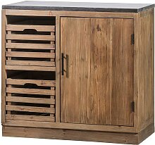 Massiver Küchenschrank mit zwei Holzkörben