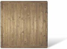 """Massiver Profilbrett Gartenzaun Sichtschutz im Maß 180 x 180 cm (Breite x Höhe) aus Kiefer / Fichte Holz, druckimprägniert """"Stralsund Massiv"""