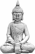 Massiver Stein Buddha Mönch Gartendeko Raumdeko