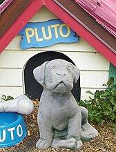 Massiver Welpe 24cm Hund Beton 5kg Stein Skulptur