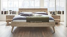 Massives Bettgestell aus lackiertem Akazienholz