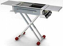 Massives Edelstahlgrill im Freien zu Hause tragbare Klapp Pull-Grill , st-x6-001 (a) grilled net + pan pan