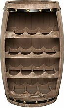 Massives Weinregal Bodega 60cm natur Weinfass aus