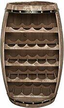 Massives Weinregal Bodega 80cm Natur Weinfass aus