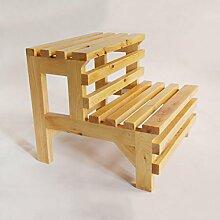 Massivholz-2-Stufen-Hocker Treppenhocker